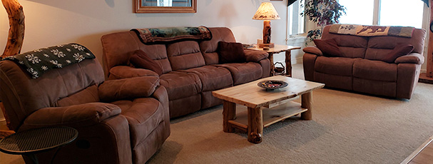 Our oversized family room is enough for your entire family to enjoy